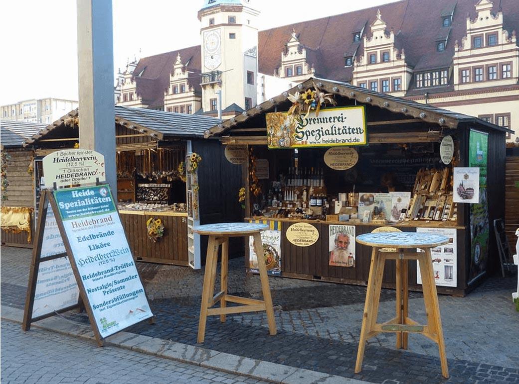 Marktstand in Leipzig 2017